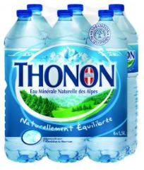 Lot de 4 packs de 6 bouteilles d'eaux Thonon