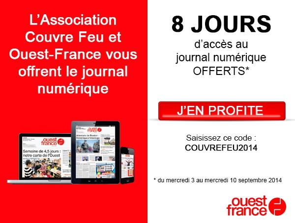 Ouest-France, version numérique gratuite pendant 8 jours