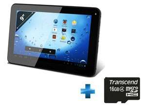 Tablette Tactile 9'' Capacitif - 4 Go - Wi-Fi - Android 4.0  + Carte mémoire micro SDHC 16 Go
