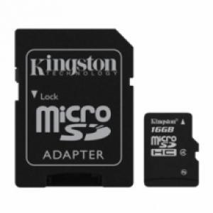 Micro SD 16GO Kingston classe 4 + adaptateur SD