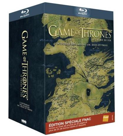 [Adhérents] Game of Thrones Coffret BLURAY Saison 1 à 3 (+20€ de chèque cadeau)