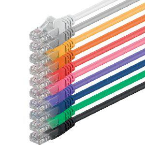 Lot de 10 câbles patch UTP réseau avec 2 x kit de connecteurs Rj45 1m
