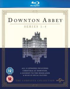 Downton Abbey - Saisons 1 à 4 Blu-ray (uniquement en anglais)