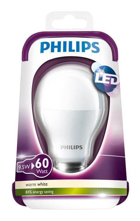 Ampoule LED Philips Standard E27 9.5W (équivalence 60W)