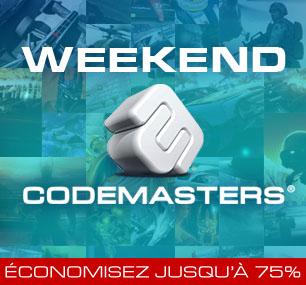 Weekend Codemasters : Promotion sur une sélection de 19 jeux PC (Dirt, GRID, Overlord...)