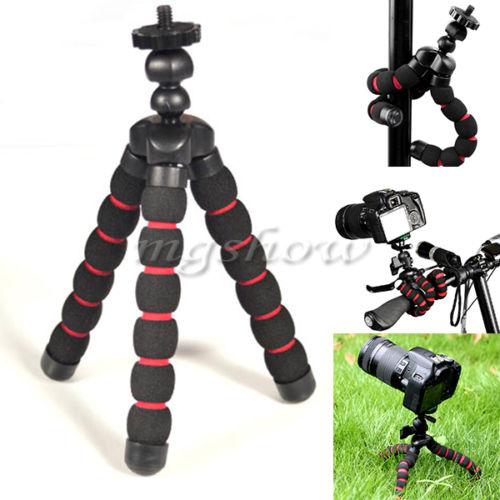 Mini support trépied flexible polyvalent (bras en mousse) pour appareil photo