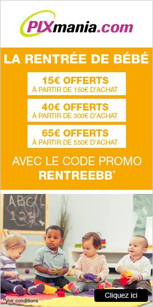 15€ dès 150€ d'achat, 40€ dès 300€, ou 65€ dès 550€  dans le rayon puériculture