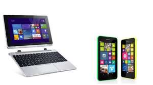 "Pack Tablette 10.1"" Acer Aspire Switch 10 64Go & Dock 500 Go  +  Smartphone Nokia Lumia 635 4G"