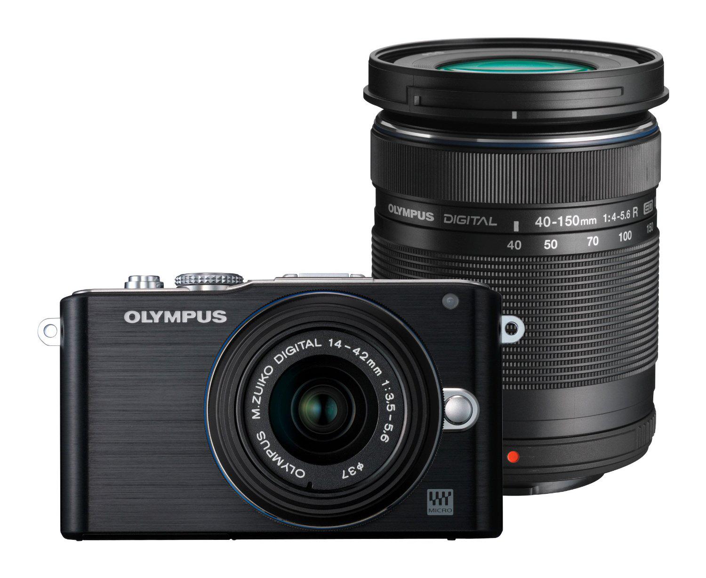 Pack Appareil photo Hybride Olympus PEN E-PL3 DZK avec 2 objectifs 14-42mm et 40-150mm