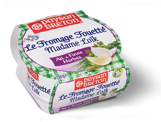 Fromage fouetté Paysan Breton Madame Loïk Ail & Fines herbes - 150g (avec 50% sur la carte fidélité)