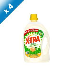 Lot de 4 bidons de lessive XTRA Total Aloe Vera & Savon de Marseille (172 lavages au total) / Livraison gratuite