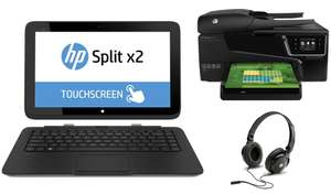 PC portable hybride HP Split X2 13-M170EF + Casque HP H2500 Amber + Imprimante HP Office Jet 6600 (Avec ODR de 150€)