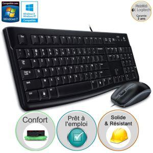 Pack clavier et souris filaire Logitech MK120