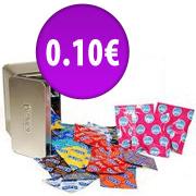 10 préservatifs de taille standard pour les nouveaux clients uniquement (Frais de port : 2.99.€)