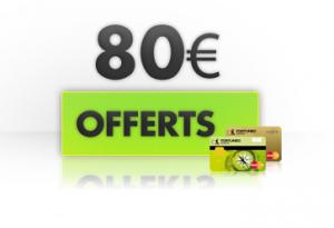 80€ offert pour une ouverture de compte (operation gratuite)