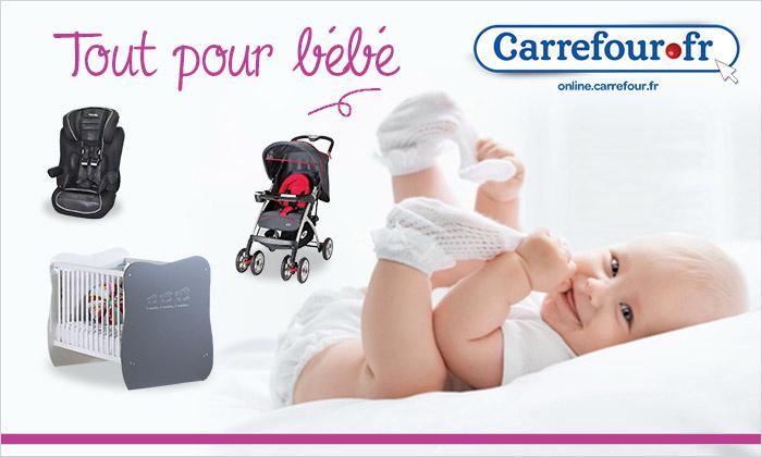 Bon d'achat de 30€ à valoir sur les produits pour bébé du site Carrefour.fr au prix de