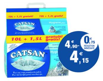 Litière Catsan Hygiène Plus 11.5L