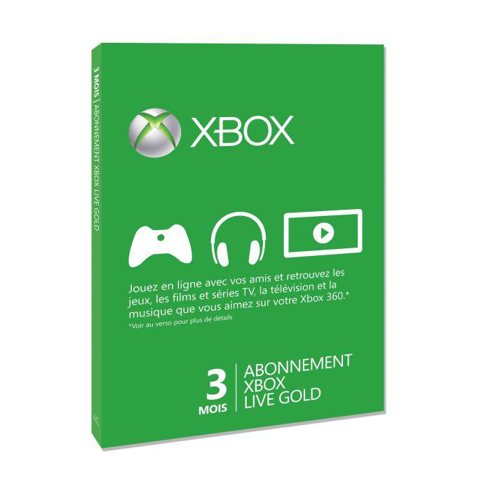 Abonnement 3 mois au Xbox Live