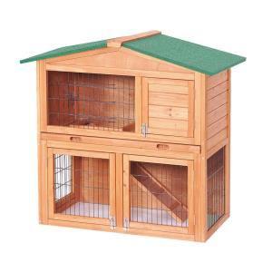 Clapier pour lapins en bois 100 x 54,7 x 99,6 cm