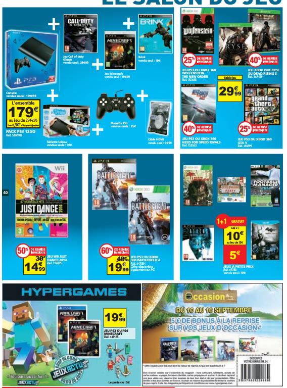 Jeux vidéos en promo - Ex : 1 acheté = 1 offert parmi une sélection