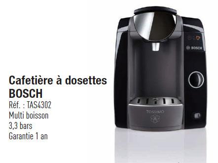 Cafetière à dosettes Tassimo Bosch TAS4302 (20€ de remise immédiate + 40€ de remise différée)