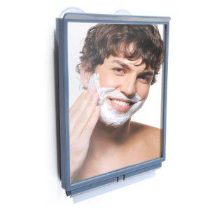 Miroir de douche  antibuée avec raclette