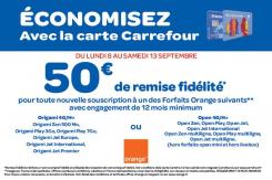 50€ de réduction pour toute nouvelle souscription à un des forfaits Orange