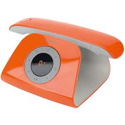 Téléphone fixe avec répondeur DECT Logicom Rétro couleur orange