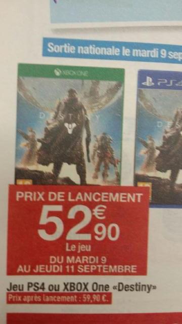 Jeu Destiny sur Xbox One et PS4