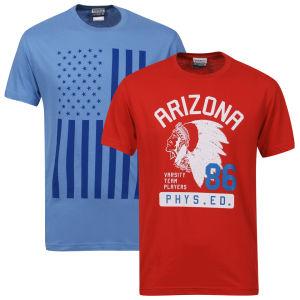 2 T-shirts varsity  (Taille L uniquement)