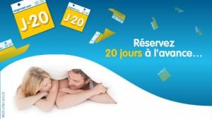 -5€ de remise sur votre chambre d'hôtel si vous réservez au moins 20 jours à l'avance