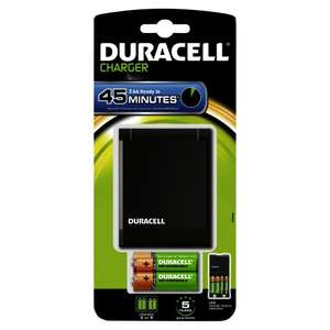 Chargeur Duracell rapide 45min + 2  piles AA 1300mAh et 2 piles AAA 750mAh