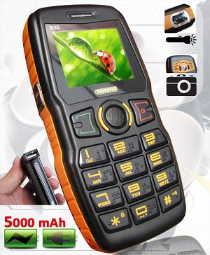 Téléphone dual Sim avec batterie de secours 5000mAh Admet B30