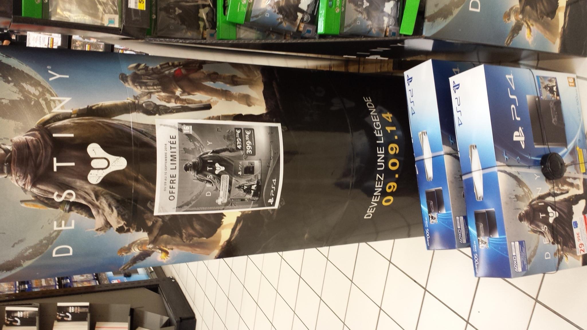Pack console PS4 500go + jeu Destiny