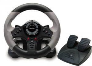 Volant de course + pédalier Hori Racing Wheel 3 EHP3-70 pour PS3