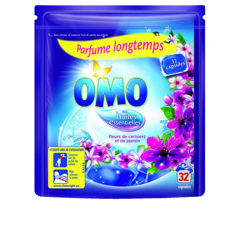 Lessive Omo 32 capsules -  1 acheté = 1 offert