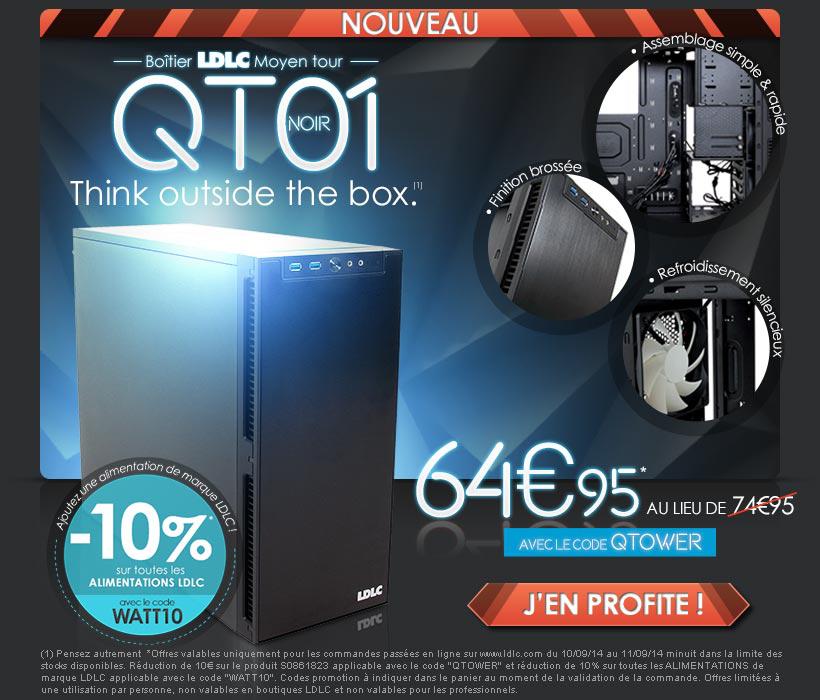 -10% sur les alimentations LDLC et boitier PC QT01