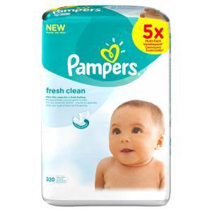 Lingettes Pampers Fresh clean x 10 boites (640 lingettes)