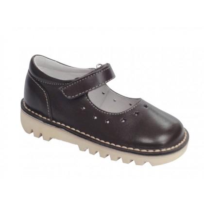 Sélection de chaussures en promo - Ex : Ballerines enfant cuir Amélie (Taille 21 à 28)
