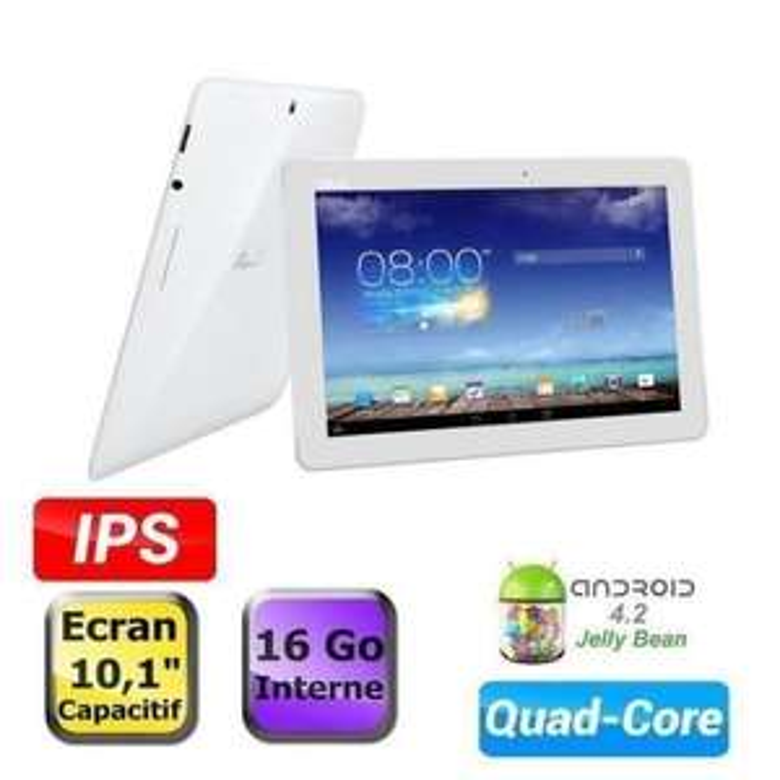 "Tablette Asus MemoPad ME102A 10"" 16Go Blanc (Occasion)"