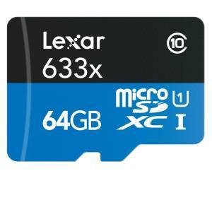 Carte micro SDHC 64go haute vitesse Lexar avec Adaptateur USB 3.0