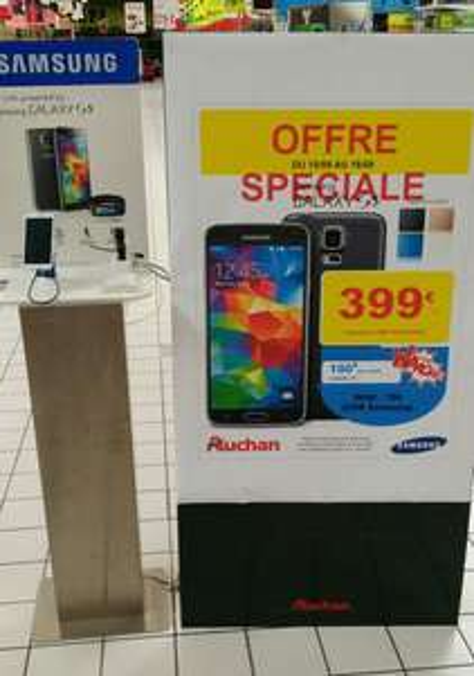 Smartphone Samsung Galaxy S5 (100€ sur carte Waouh et 70€ ODR)
