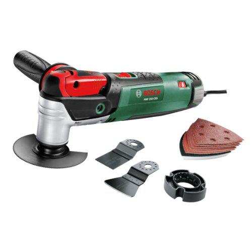 """Bosch outil multifonction """"Expert"""" PMF 250 CES avec coffret, 6 accessoires et 1 set de feuilles abrasives"""