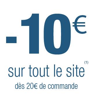 10€ offerts dès 20€ d'achat