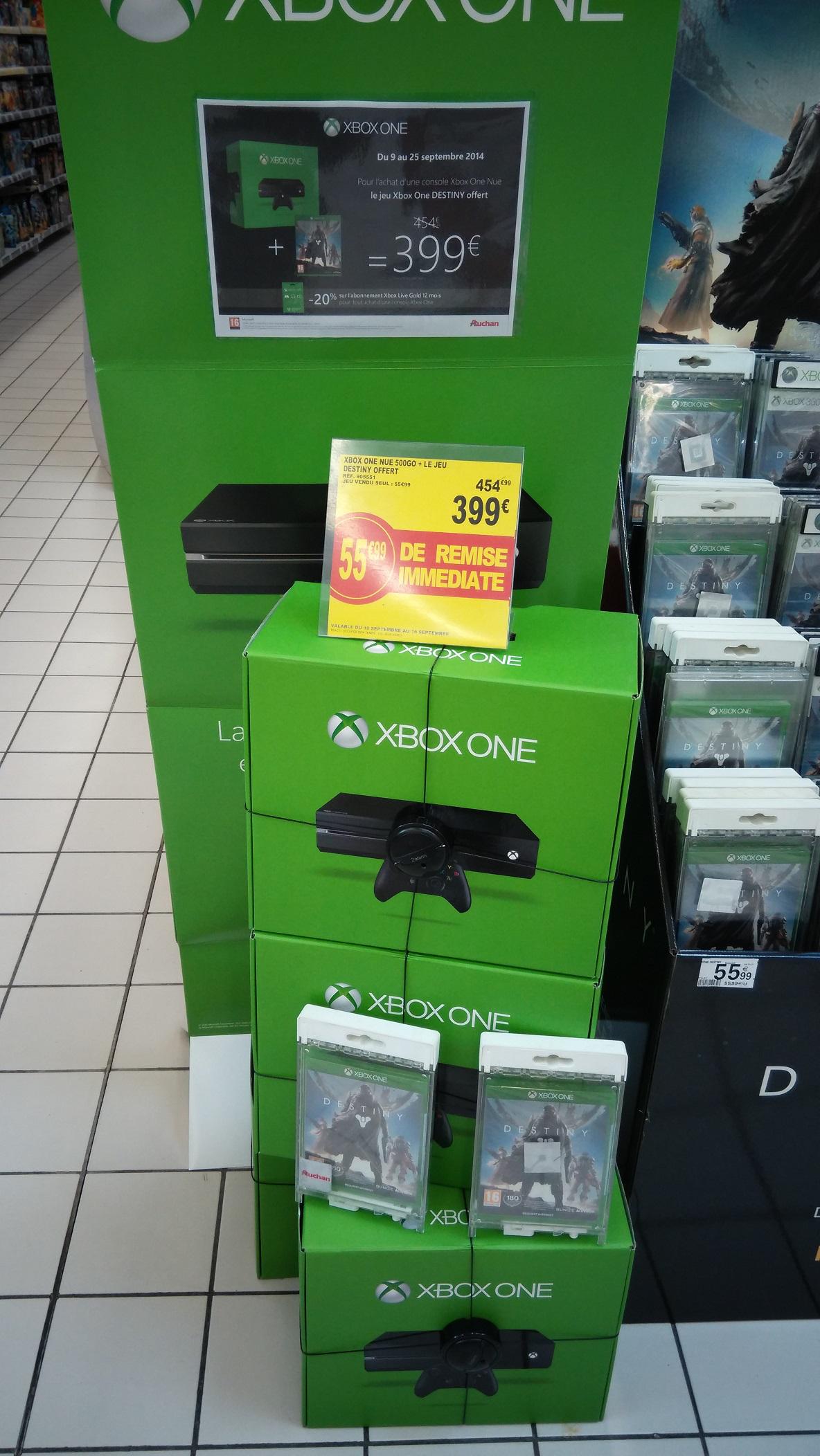 Console Xbox One nue + Destiny