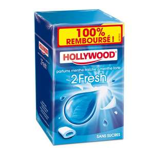 Chewing-gum Hollywood 2 fresh 100% remboursés (via internet ou courrier)