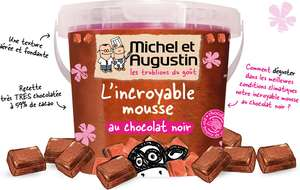 L'incroyable mousse au chocolat noir Michel et Augustin gratuite via Fidmarques