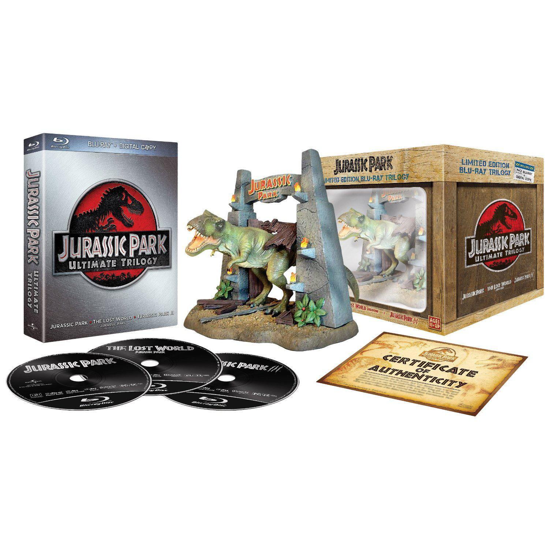 Coffret Collector Trilogie Jurassic Park (Blu-ray + Statuette)