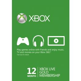 Abonnement de 12 Mois au Xbox Live