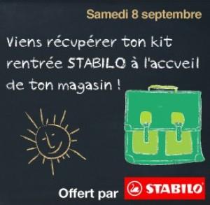 Kit Stabilo gratuit pour la rentrée